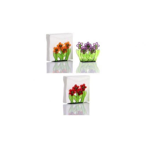 Szalvétatartó - virágos